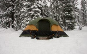 Camping Tent in Cold Weather